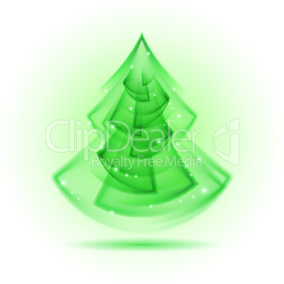 Abstract Christmas tree.