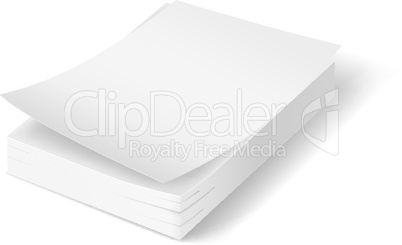 Stack of blank papers.