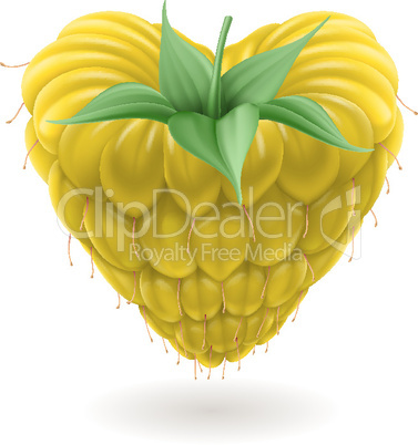 Yellow raspberry heart.