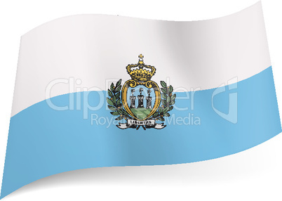 State flag of San Marino.