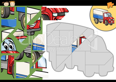 cartoon truck jigsaw puzzle game