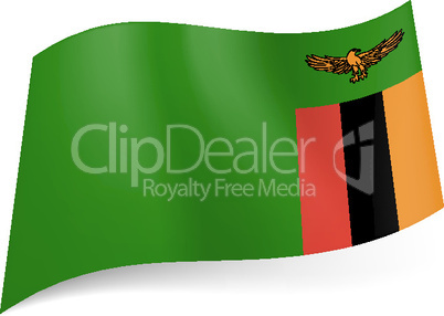 State flag of Zambia.
