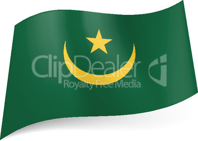 State flag of Mauritania.