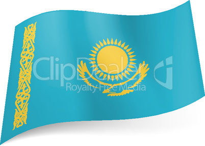 State flag of Kazakhstan.