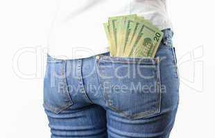 money in my pocket