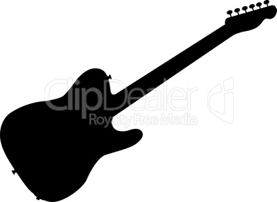 rock guitar silhouette