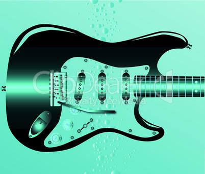 submerged guitar