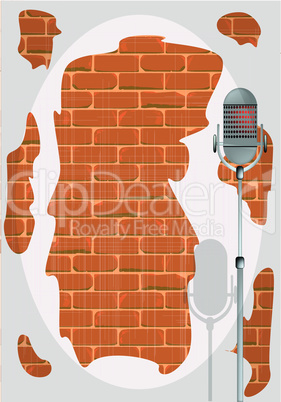 stand up night wall.