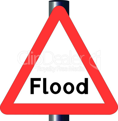 flood traffic sign