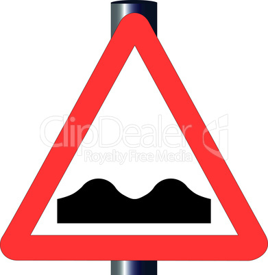 uneven roadtraffic sign