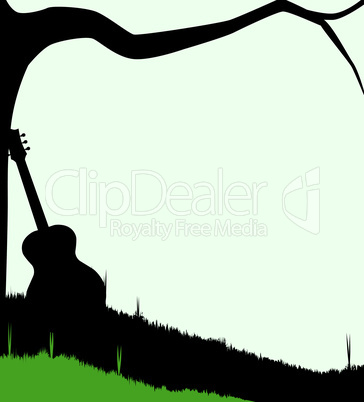 guitar and tree