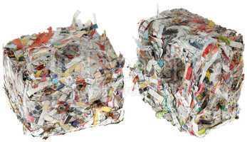 paper briquettes cutout