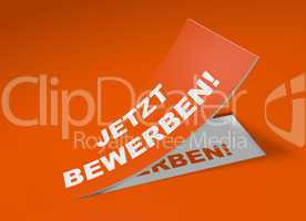 3d etikett orange - jetzt bewerben!