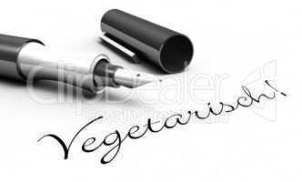 vegetarisch! - schrift konzept