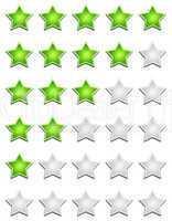 fünf sterne bewertungssystem - grün grau
