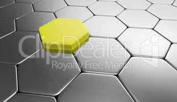 sechseck hintergrund - gelb silber