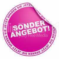 3d aufkleber pink - sonderangebot!
