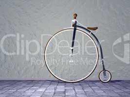 vintage bicycle - 3d render