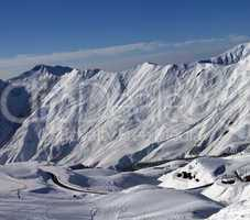 views of ski resort gudauri