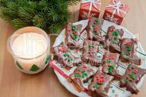 Schokoladen Weihnachts Plätzchen