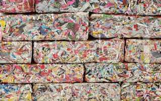 paper bricks wall