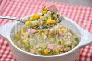 Getreide Dinkel Suppe