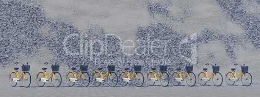 City bikes - 3D render