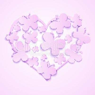 valentine's heart of butterflies
