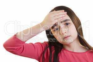 Little girl with headache