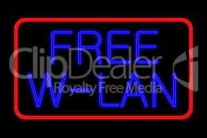 neon sign free w-lan
