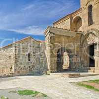 an ancient, exterior, castle