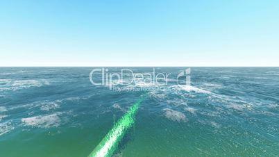 Öl Pipeline unter Wasser