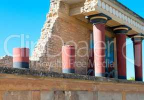 ancient site of knossos in crete