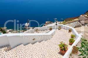Stairway to sea. Oia, Santorini, Greece