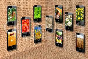 mobile phones in three-dimensional flatness