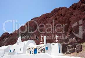 Chapel in red beach, Santorini