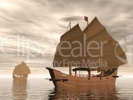 junk ships - 3d render