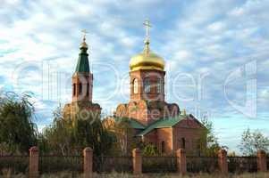 "Orthodox temple in village "" Svetly Yar "". The Volgograd area. R"