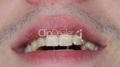 Macro of teeth