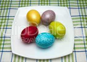 coloured easter eggs