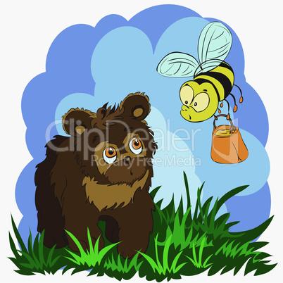 bear and bee.eps
