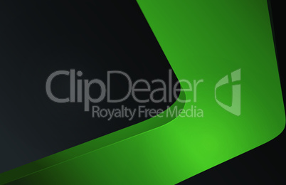 abstract volumetric background green