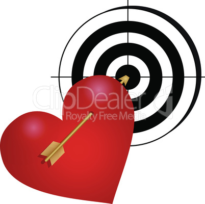 heart with arrow and a target