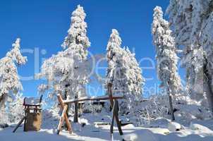 winter am ochsenkopf Spielplatz
