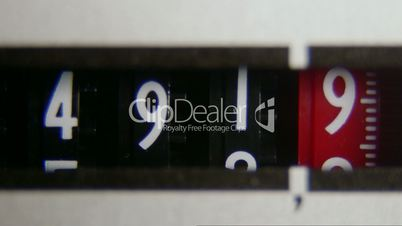 Electricity meter display dial