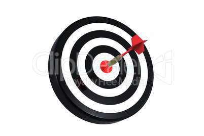 dart on bull's eye