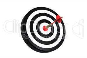 dart on bull's eye