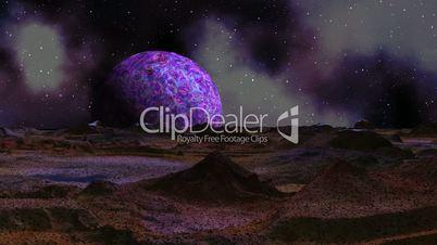 sunrise purple planet