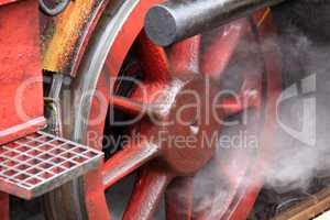 wheel of a locomotive