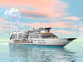 cruise ship - 3d render